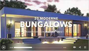 20 moderne Bungalows