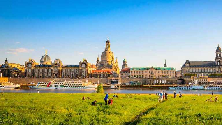 Bauen an der Elbstadt Dresden - Panorama