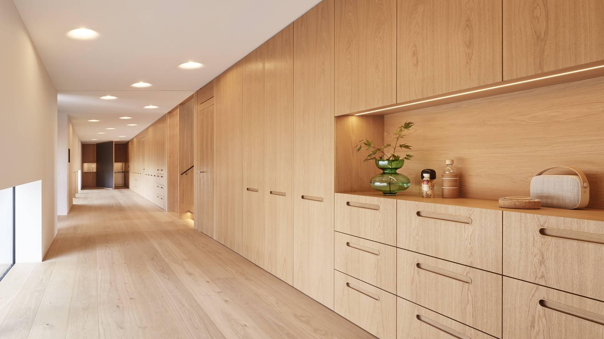 Baufritz Konzepthaus Haussicht Schrankwand