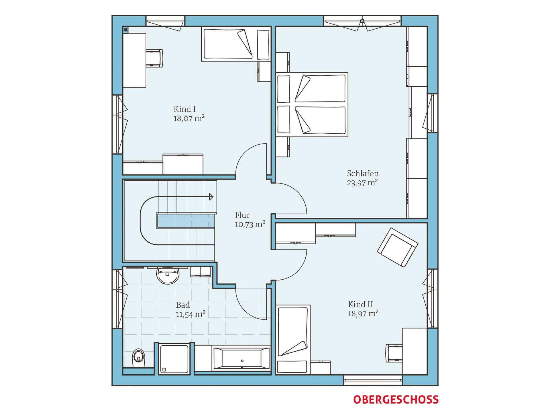 einfamilienhaus bauen hausbeispiele mit grundrissen. Black Bedroom Furniture Sets. Home Design Ideas