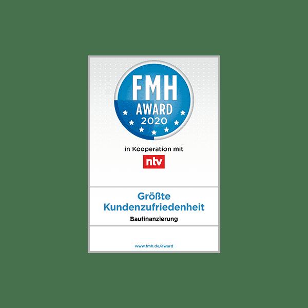 FMH Award 2020 für größte Kundenzufriedenheit