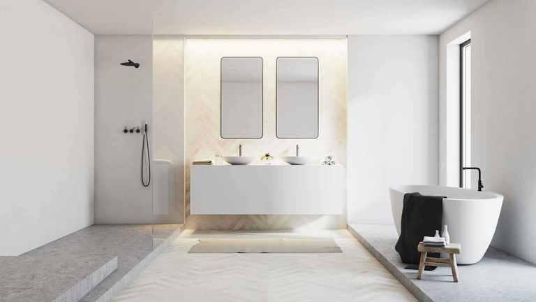 Puristisches Badezimmer