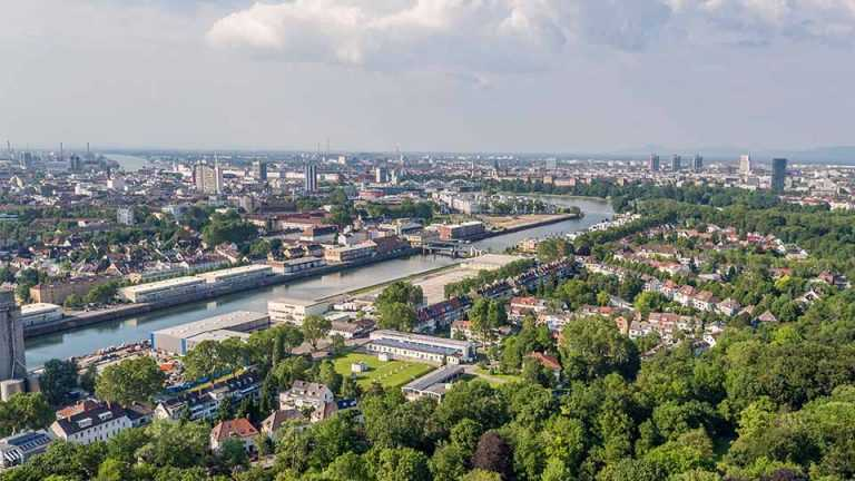 Luftaufnahme Hausbau Mannheim