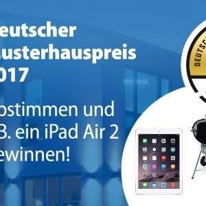 Gewinne tolle Sachpreise beim Deutschen Musterhauspreis!