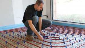 Aubauhaus Eigenleistung Fußbodenheizung verlegen