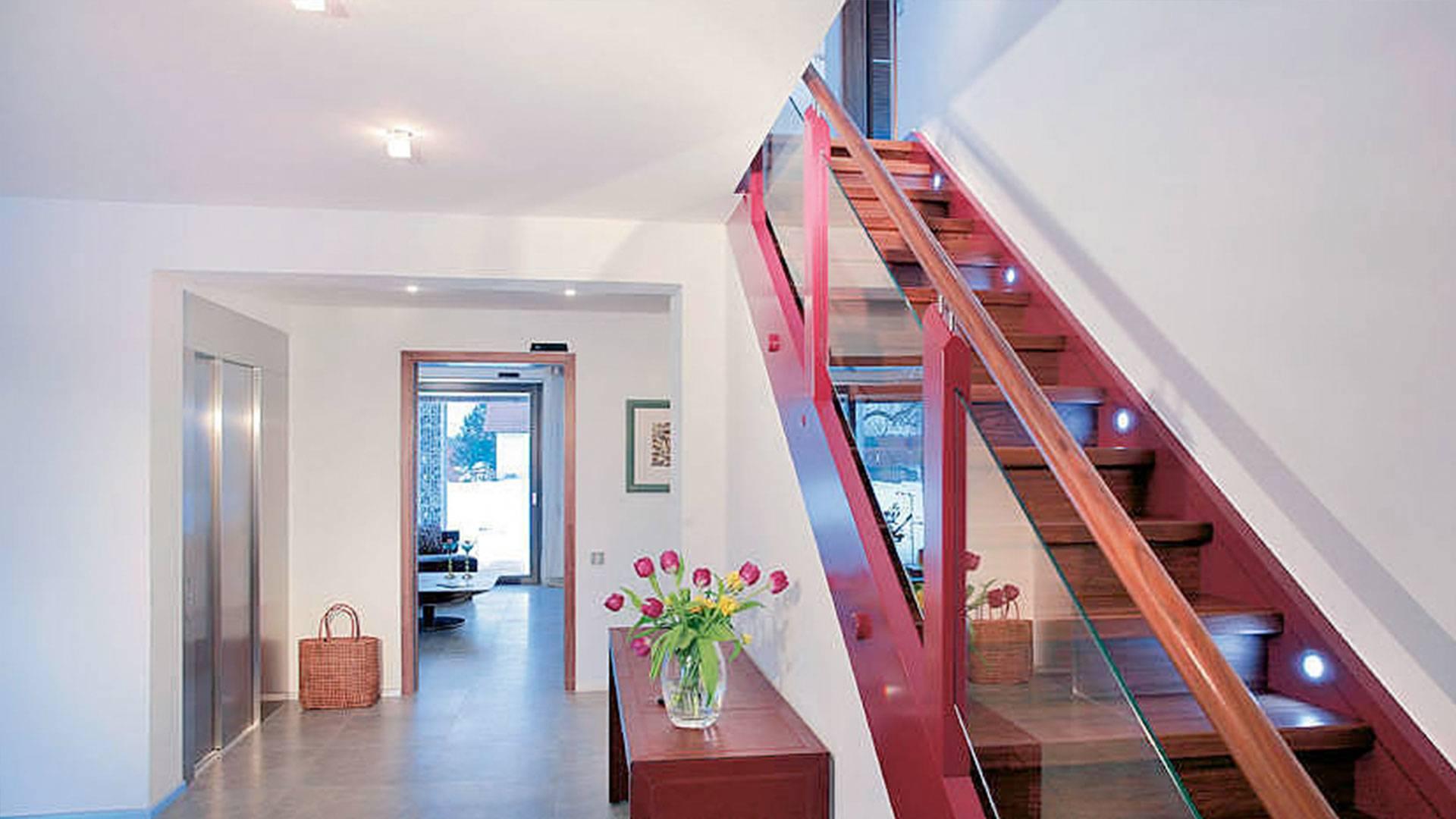 Fahrstuhl Einfamilienhaus Preis barrierefreies haus bauen beispielhäuser förderungen