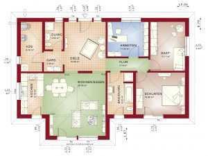 barrierefreies Haus Bien-Zenker Bungalow Evolution_111V2 Grundriss