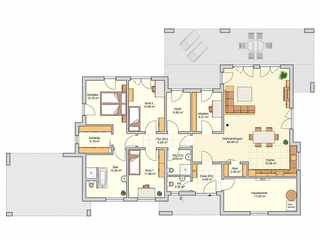 barrierefreies Haus_Fingerhut-Haus Bungalow-19510 Grundriss