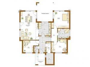 barrierefreies Haus - Rensch-Haus – Bungalow Liberty Grundriss EG