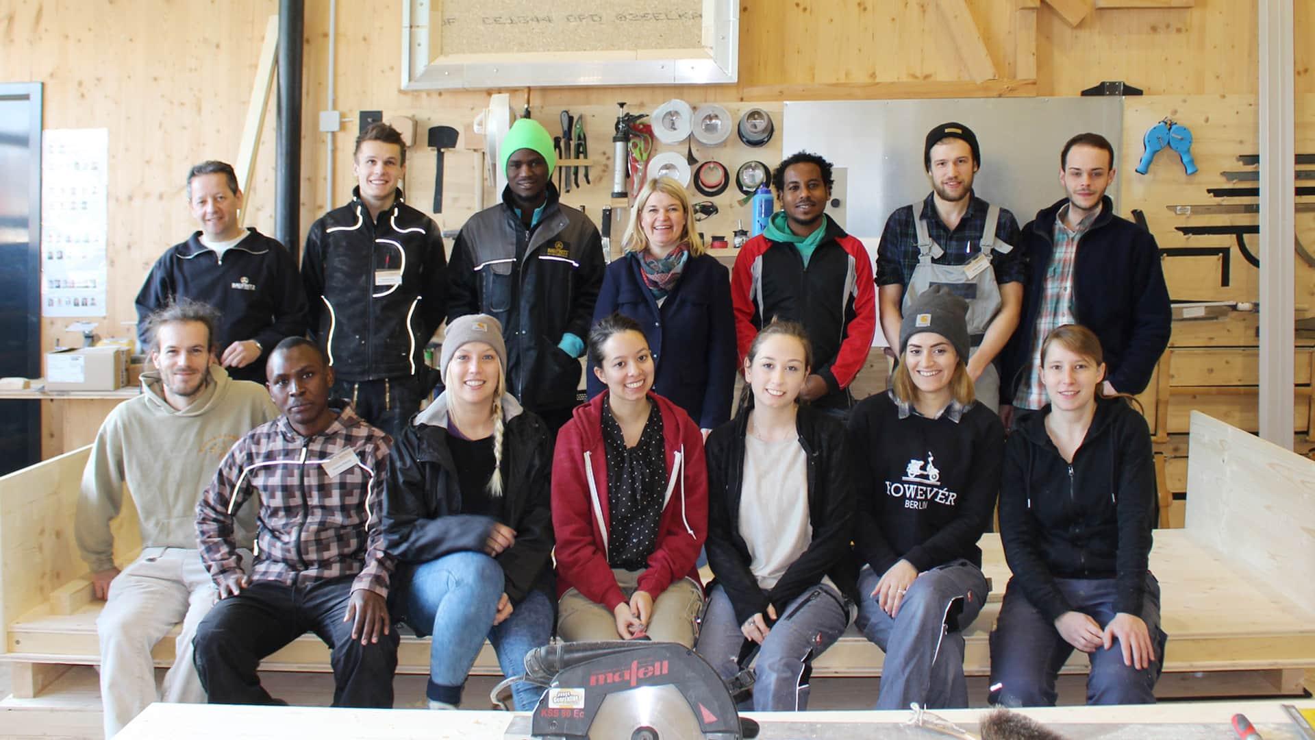 Flüchtlingsprojekt surviva bei Baufritz