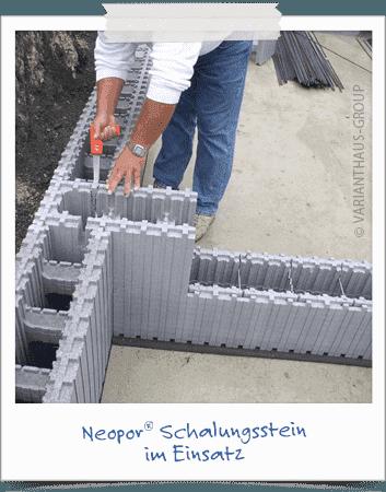 Bausatzhaus Neopor-Schalungsstein