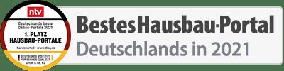 Bestes Hausbau-Portal Deutschlands 2021