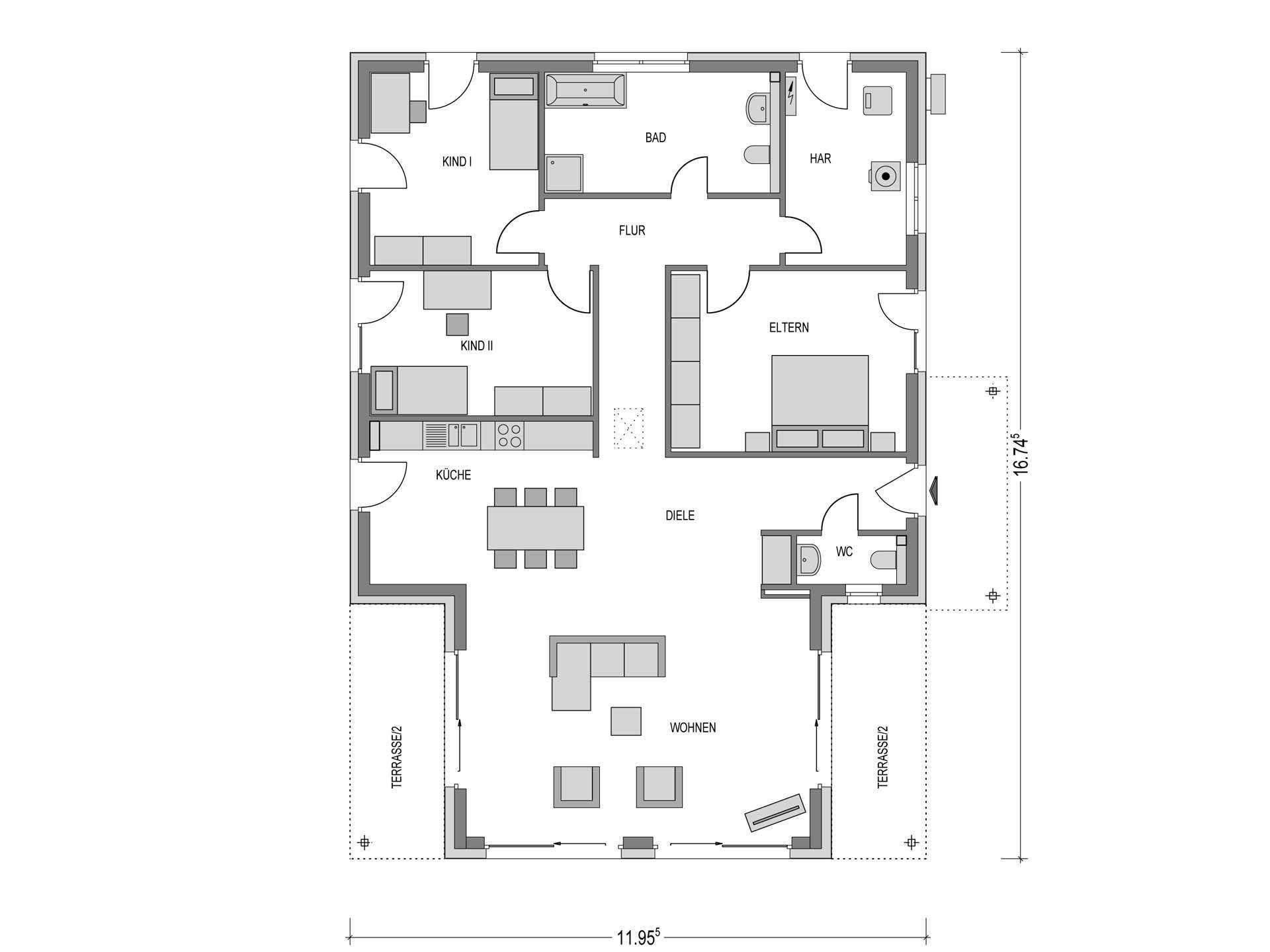 bungalow bauen anbieter preise grundrisse im berblick. Black Bedroom Furniture Sets. Home Design Ideas