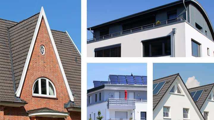 Übersicht der Dachformen