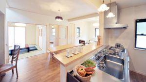 Effizienzhaus Wohnküche
