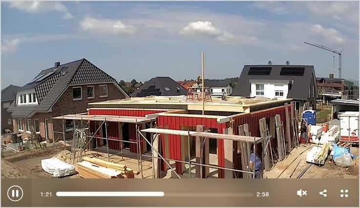 Ein Fjorborg-Schwedenhaus entsteht