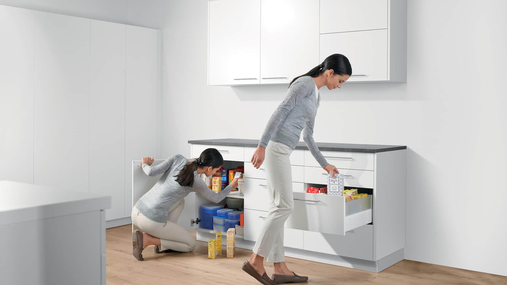 Viel Stauraum in der Küche