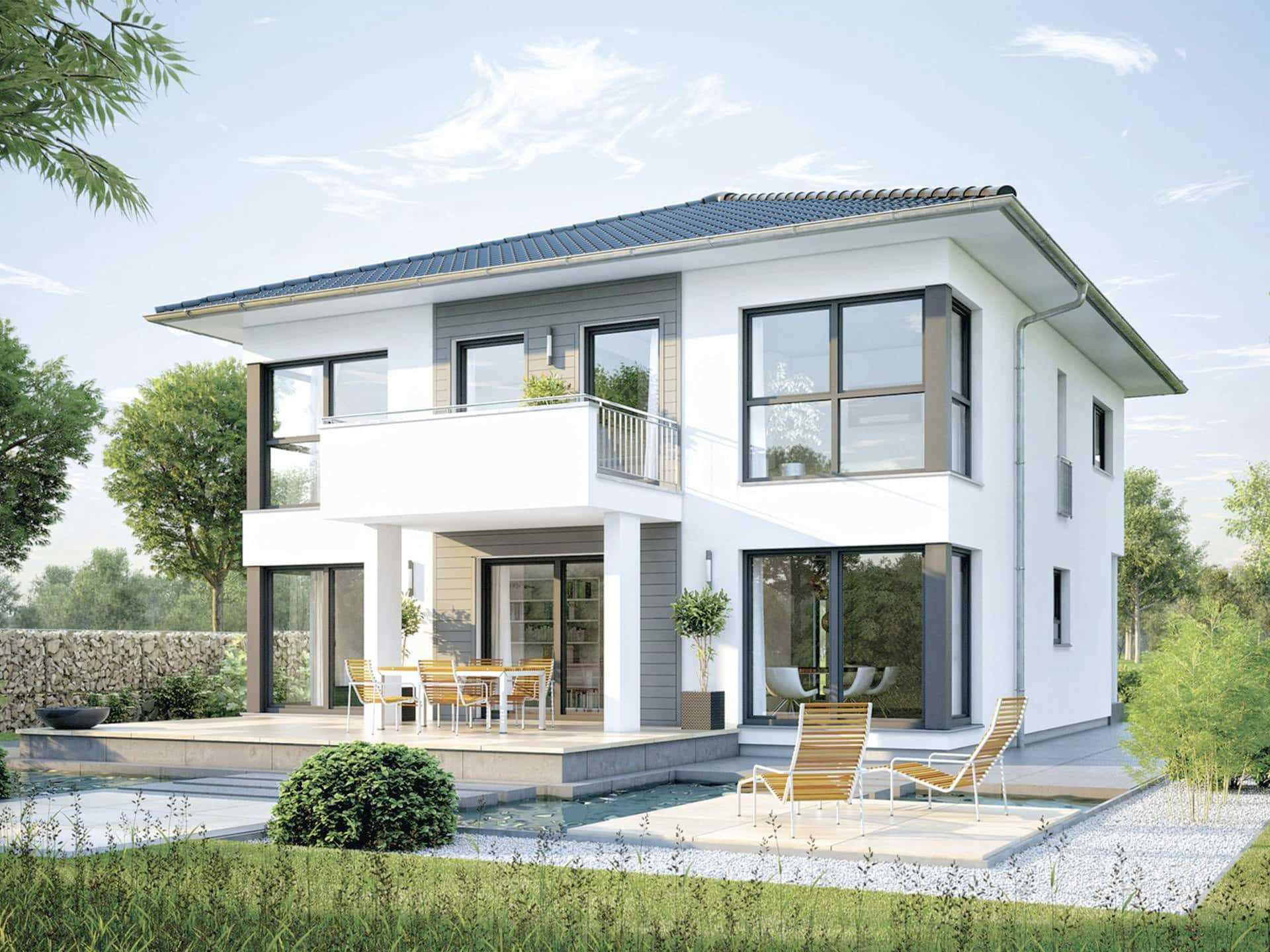 Einfamilienhaus bauen hausbeispiele anbieter preise for Hausbeispiele grundrisse