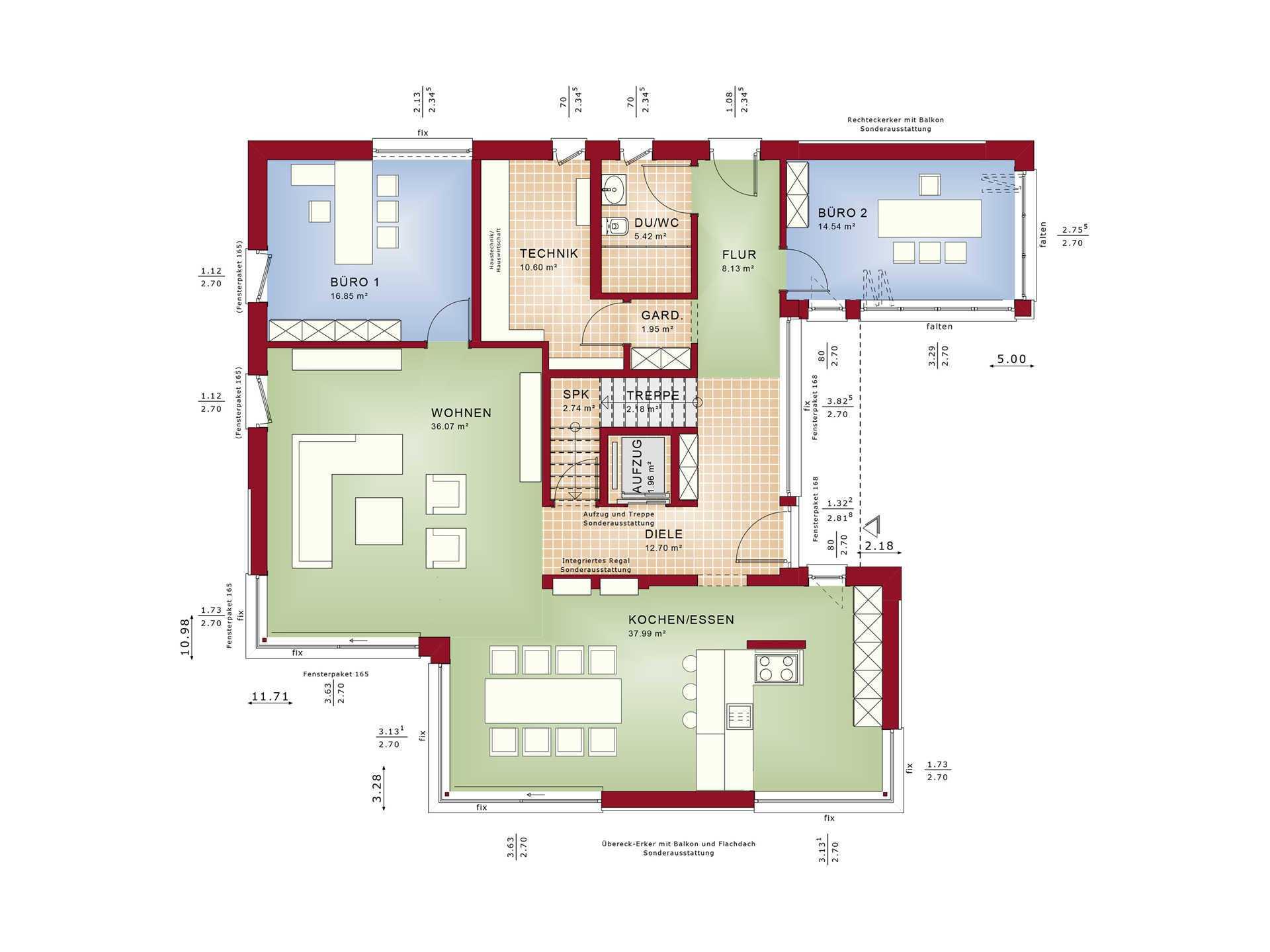 Luxushaus bauen hausbeispiel mit grundriss ideen und preisen for Grundriss luxushaus