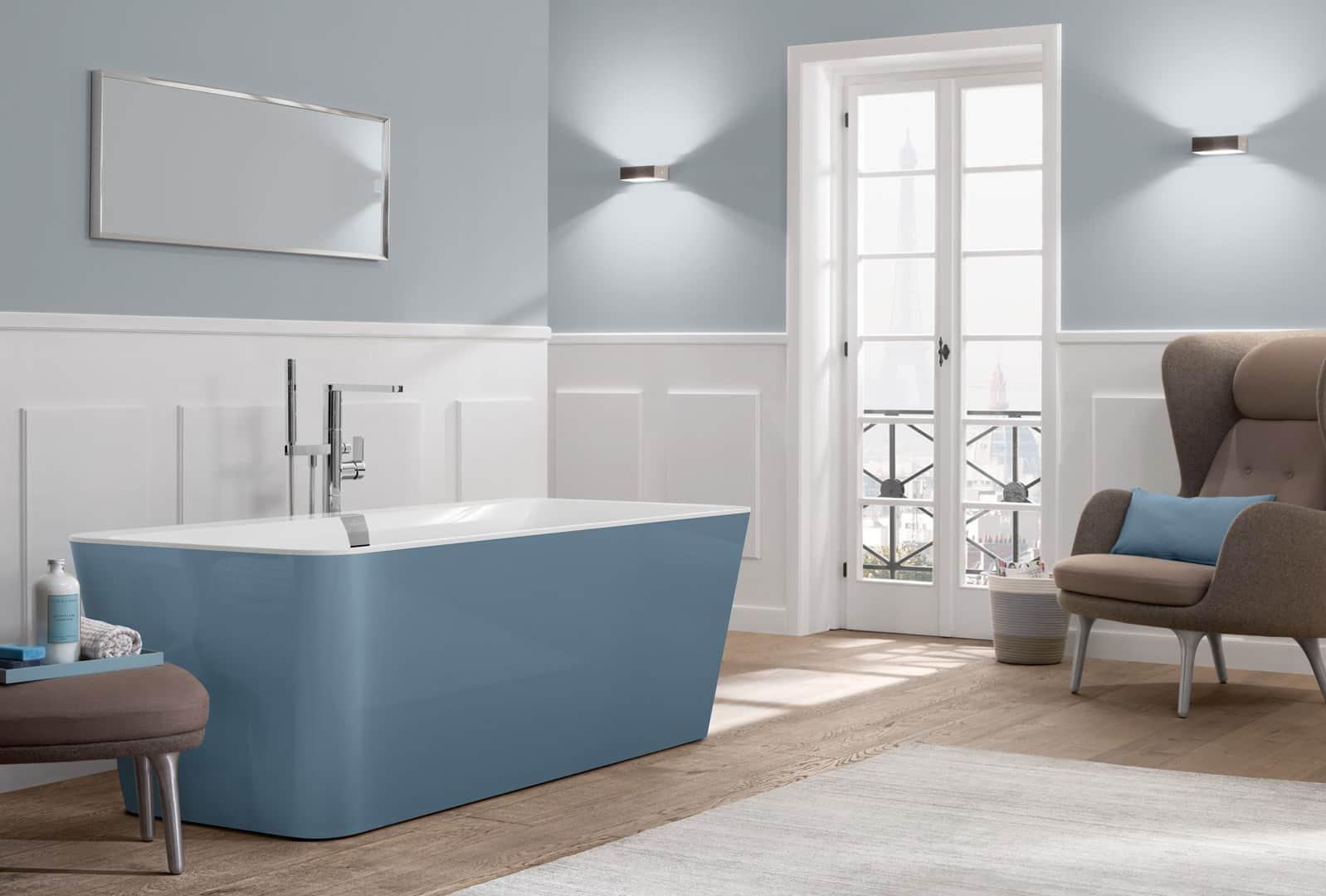 farbe im badezimmer ausdrucksvoll und individuell. Black Bedroom Furniture Sets. Home Design Ideas