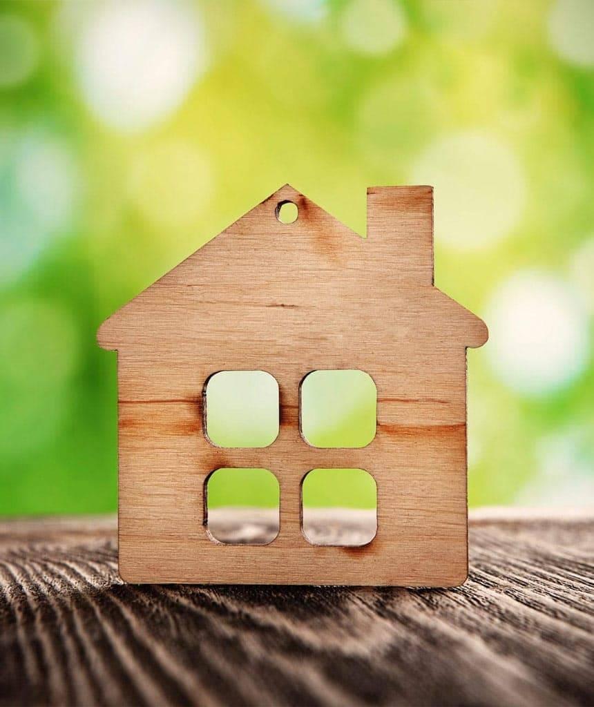 Ein Holzhaus ist energieffizient und umweltschonend