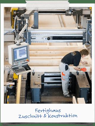 Fertighaus Holzrahmen-Konstruktion