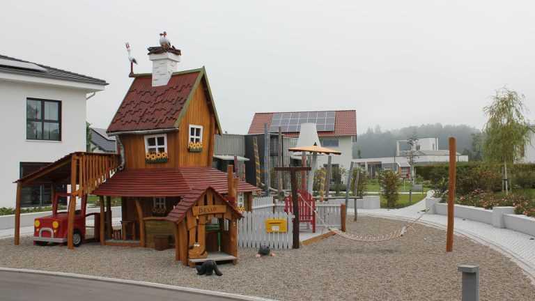 Spielplatz in der Fertighauswelt Günzburg