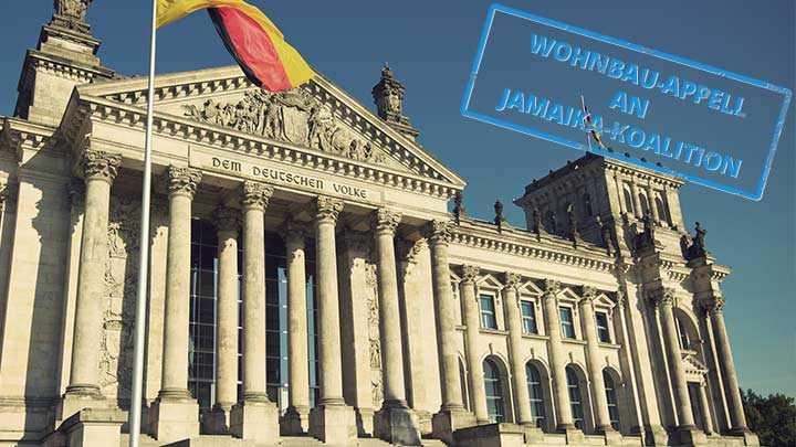 Wohnbau-Appell an Jamaika-Koalition