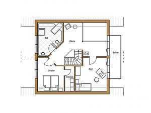 Frammelsberger Holzbau – Holzhaus 131 - Grundriss DG
