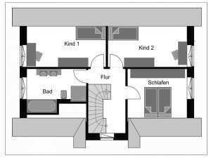 Friesenhaus - Fuchs Baugesellschaft FH 13 Grundriss OG