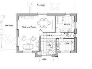 Friesenhaus - Viebrockhaus Maxime 115 Grundriss EG
