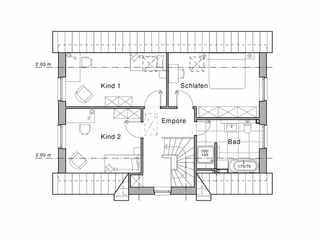 Friesenhaus - Viebrockhaus Maxime 115 Grundriss OG