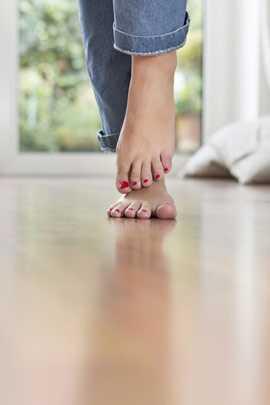 Fußbodenheizungen verursacht keine dicken Füße