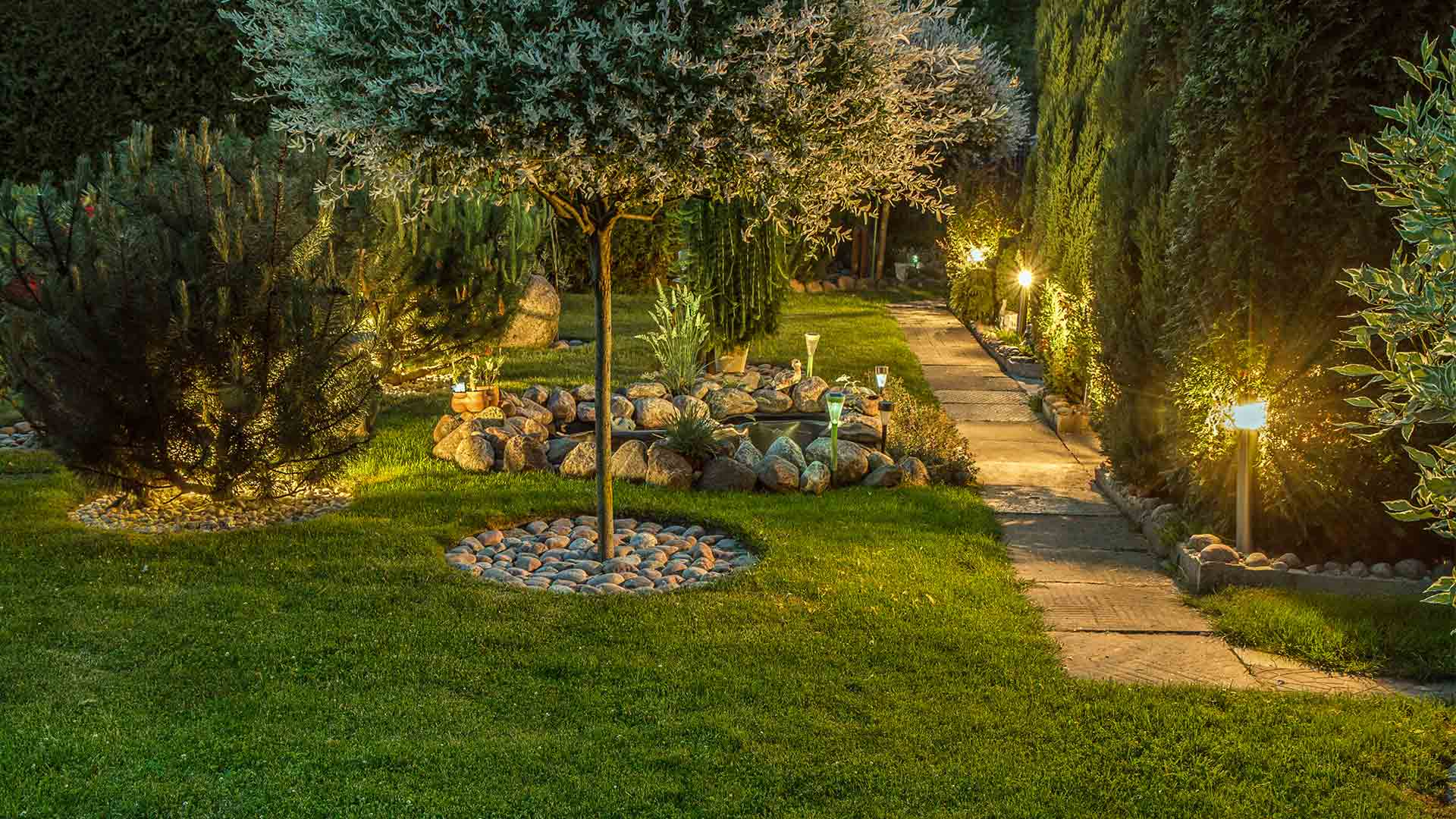 Gartenwegbeleuchtung