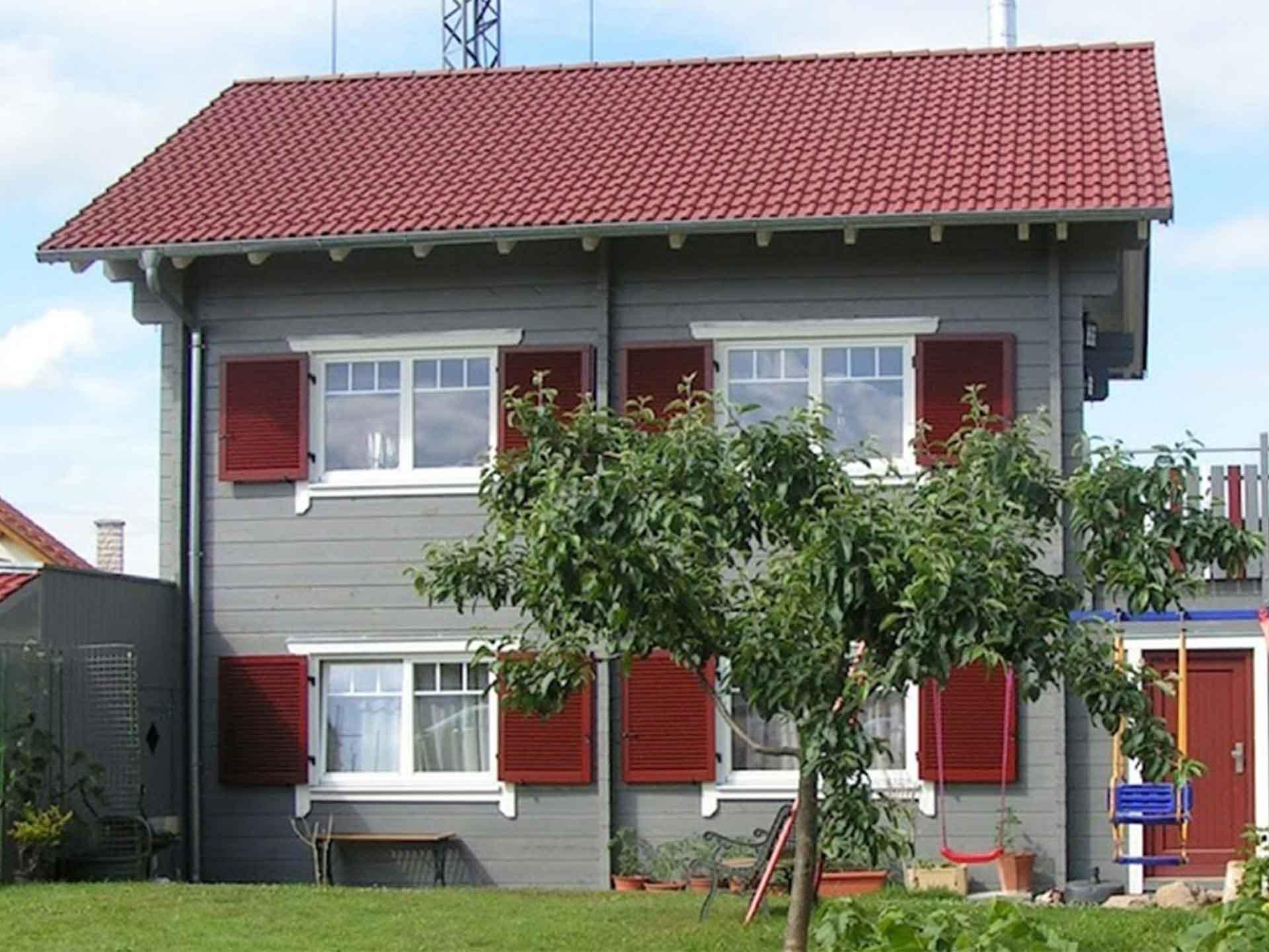 Holzhaus mit 111 Quadratmetern Wohnfläche