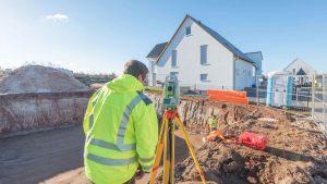 Grundstücksvermessung Hausbau