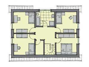 GUSSEK HAUS – Einfamilienhaus Lindenallee Grundriss DG