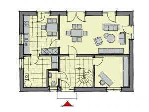 GUSSEK HAUS – Einfamilienhaus Lindenallee Grundriss EG