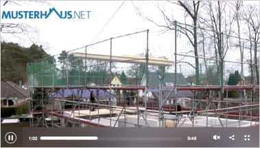 Aufbau eines Fertighauses, Stadtvilla von Haacke Haus
