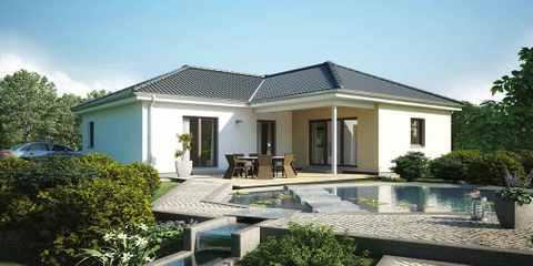 Bungalow mit verwinkeltem Dach
