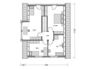 Heinz von Heiden – Haus ALTO SD.200.2 – Grundriss DG