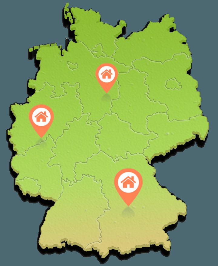 hausbau deutschland infokarte