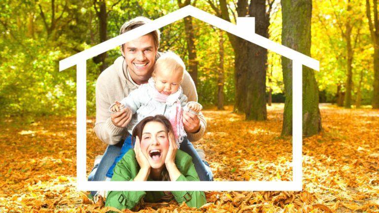 Hausbauplanung im Herbst