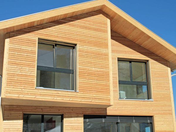 Typisches Beispielhaus eines Holzhausanbieters