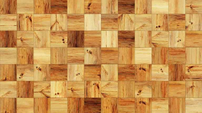 Holzpflaster als Bodenbelag