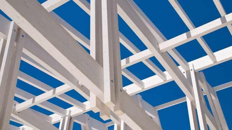 Holzmständerbau-Element