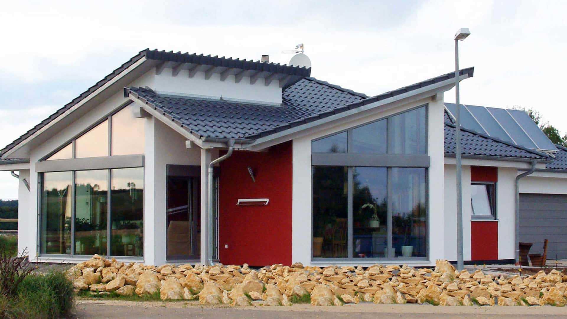 modernes pultdachhaus mithilfe von bauen. Black Bedroom Furniture Sets. Home Design Ideas