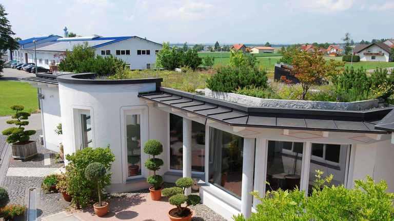 Beispiel einer intensiven Dachbegrünung