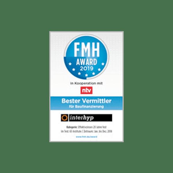 FMH Award 2016 für günstige Baufinanzierungs-Konditionen