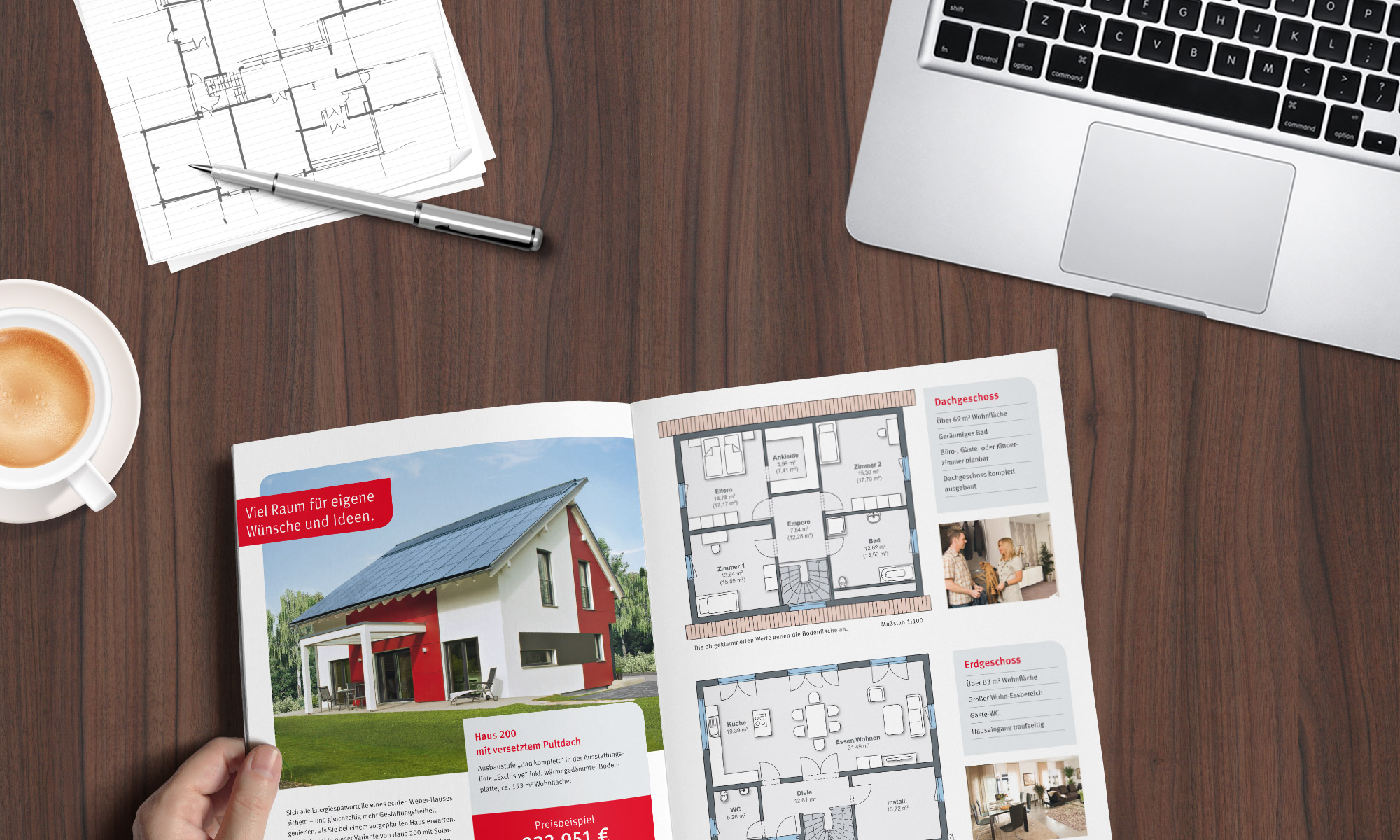 kataloge draufsicht einfamilienhaus